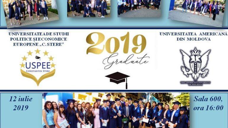 Înmînarea diplomelor de licenţă și master 2019